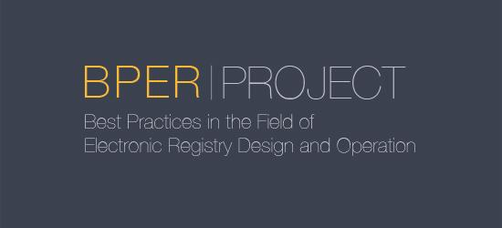 Best Practices of Electronic Registry and Design